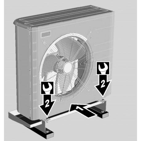 Taca ociekowa i ceownik do zamocowania jednostki zewnętrznej DAIKIN EKDP008C